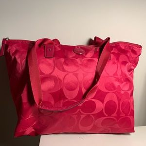 Pink Coach Tote